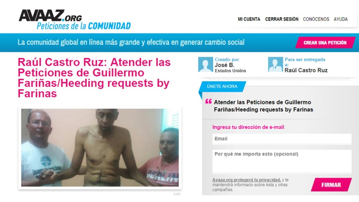 Enviado a Raúl Castro primer grupo de firmantes de la Petición por Fariñas